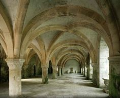 Grand Scriptorium of the Abbey of Fontenay, Burgundy, France. The Cistertian Abbey was founded in 1118 by Bernhard of Clairvaux. Burgundy France, Everyone Makes Mistakes, Great Photographers, 12th Century, Photo Archive, Places Ive Been, Taj Mahal, Spaces, History