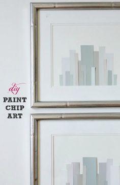 LiveLoveDIY: DIY Paint Chip Art #wallart #diy