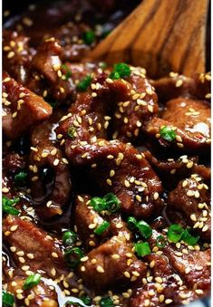 I love this recipe!! Easy to cook beef in the slow cooker. This is bursting with flavor and lots of goodness. Serve over rice and green onions. DELISH!