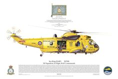 Sea King HAR3 202 RAF Lossiemouth Search Rescue Aviation Art
