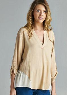 Super Soft & Light Weight Mandarin Collar Blouse #fashion #apparel #blouse #ootd #freeshipping
