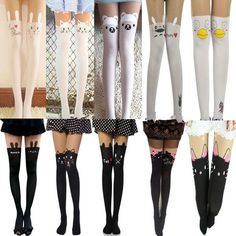 Hot Sexy Pantyhose Design Pattern Printed Tattoo Stockings Tights Leggings #New #Pantyhose