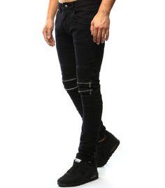Pánske čierne džínsové nohavice
