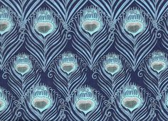 Liberty of London Fat Eighth 'Ceasar' blue by OrganicStitchCo, £4.50