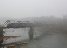 A CSX manifest train crosses the Catawba River in dense fog on December The Catawba River acts as the county line between York and Lancaster, South Carolina. This photograph was made from the new Highway 5 automobile bridge. Catawba River, County Line, Dense Fog, Railroad Photography, December 17, Lancaster, Crosses, South Carolina, Automobile