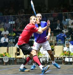 Note how Nick's foot is planting just as he starts his swing.   This means that at the point of impact his body will be still and stable giving him maximum control of the racket head.  Learn more now: https://squashskills.com/squash:playlists  #squash #psaworldtour #psa