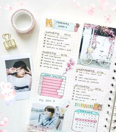 Gorgeous Kookie & Jimin inspired bullet journal spread by insta @studychimchim. Are there any BTS fans here who love to bujo? Btw, we absolutely love @studychimchim's creations, please check her insta feed out!!