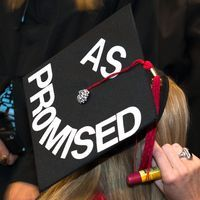 The FIDM Blog: FIDM Fashion College Graduates Show Off Their Creativity On Their Graduation Caps!