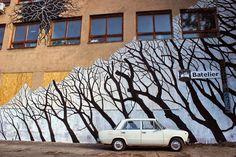 Street Art News: Pablo S. Herrero New Mural - Bratislava, Slovakia