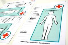 « On dirait que je suis médecin » : un kit d'imitation pour les enfants qui aiment jouer à faire semblant d'être le docteur.