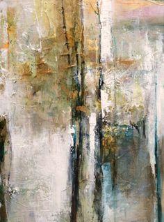 Golden Awareness-Abstract by Joan Fullerton Acrylic ~ 24 x 18