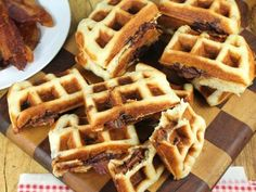 Yum! Check out the Apple Butter and Bacon Stuffed Waffles from Lucky Leaf. I'm going to try it, and you should too!