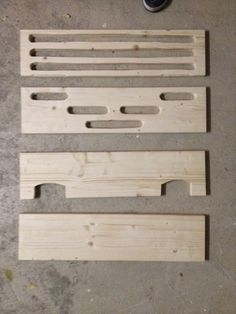 the 4 (1 inch approx) wood panels