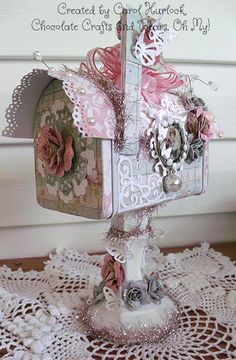 Chocolate Crafts and Bears, Oh My: CottageCutz Blog Hop Altered Mailbox