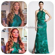 #GizelleBryant's Green Snake Print Dress #RHOP
