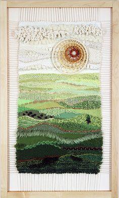 Wall tapestry diy inspiration fiber art 41 Ideas for 2019 Weaving Textiles, Weaving Art, Weaving Patterns, Tapestry Weaving, Loom Weaving, Wall Tapestry, Hand Weaving, Weaving Wall Hanging, Textile Fiber Art