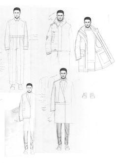 Fashion Sketchbook - fashion design sketches; fashion portfolio // Niall Cottrell