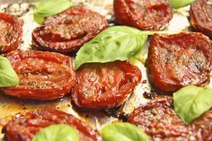 Close your eyes and take a bite; you'll be transported to a sunny hillside in Tuscany! Italian Slow Roasted Tomatoes
