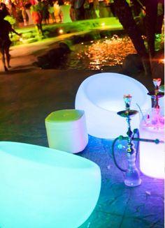 Glow chairs/hookah station