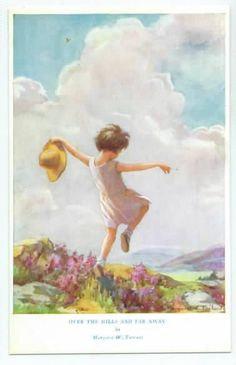 So carefree, postcard by Margaret Tarrant........ We will never have the joy to see you skipping carefree in a flower field or anywhere else because of the careless heartless lazy irresponsible midwives of Brooklyn Birthing Center! There must be JUSTICE FOR VYLETTE !  See Facebook and blog,like and share please. Thank you