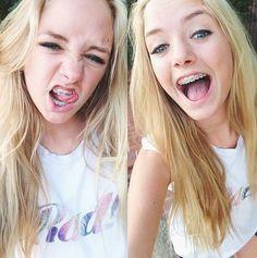 photo collage of selfies, of maddi.