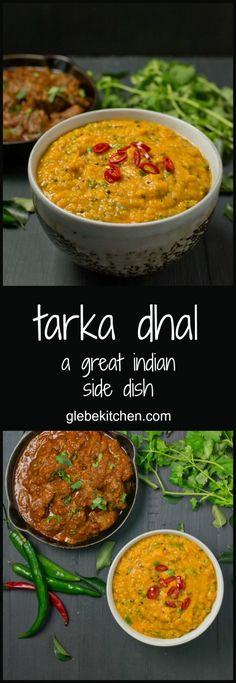 Tarka dhal makes a fantastic side or main in a vegan Indian meal.
