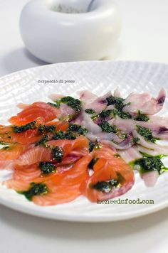 carpaccio di pesce (fish carpaccio)