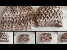 Gorditas hats with braids and crab puff crochet edge - Weaving Peru! Knitted Hats, Crochet Hats, Crochet Videos, Knitting Stitches, Baby Hats, Pretty In Pink, Free Crochet, Diy And Crafts, Crochet Patterns
