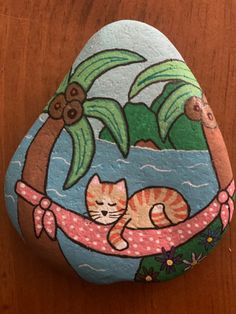 Seashell Painting, Easy Canvas Painting, Rock Painting Ideas Easy, Pebble Painting, Stone Painting, Disney Paintings, Cute Paintings, Unique Paintings, Painted Rock Animals