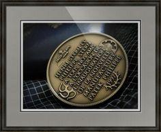 "Patek Philippe Geneve Commemorative Medal Coin // Paper: enhanced matte; Glazing: acrylic; Moulding: black, providence black; Top Mat: black/gray, gull; Middle Mat: blue, midnight; Bottom Mat: white/cream, topaz // Price starts at $163 (Petite: 20.25"" x 22.25""). // Customize at http://www.imagekind.com/Patek-Philippe-Geneve-PPG_art?IMID=02d2d878-c1ec-4135-b5f1-3c17e7a5ee8b"