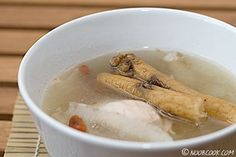 Chinese Herbs Chicken Soup (炖鸡汤) Drinking Chinese herbal soups in rainy December gives a feeling of warmth and well-being. This soup is nourishing and especially great when you are feeling fatigue; it boosts your general well being. This is the conventional way of stewing/simmering the soup