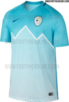 The new Slovenia 2016 kits boast stunning designs, made by long-term kit supplier Nike. Nike 2016, International Soccer, Team Wear, Football Kits, Soccer Players, Home And Away, Slovenia, Polo Ralph Lauren, Mens Tops