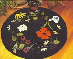 Primitive Folk Art Wool Applique Pattern  by PrimFolkArtShop, $7.75