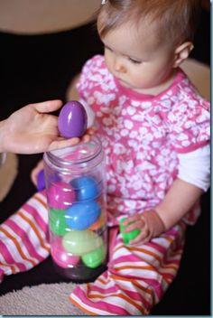 Plastic Eggs ~ Tiny Tot Fun {11 months}