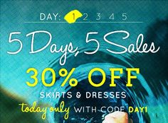 Valid 7.22.13 only, different #sale each day this week!