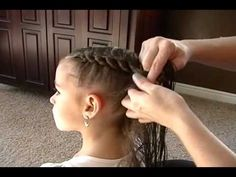 how to do a knotted braid, or chain braid, or daisy chain braid, as I've called it on my blog, shaunellshair.blogspot.com. How to braid little girl's hair or teen hair. Little girls' hair styles or teen hairstyles.