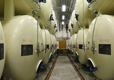 Lagering tanks at the Budvar brewery