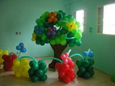 Balloon garden and tree decorations