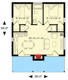 Contemporary Vacation Retreat - 22403DR | Architectural Designs - House Plans