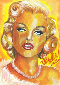 Marilyn Monroe by svetliaciok | This image first pinned to Marilyn Monroe Art board, here: http://pinterest.com/fairbanksgrafix/marilyn-monroe-art/ || #Art #MarilynMonroe