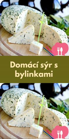 Domácí sýr s bylinkami My Dessert, Dessert Recipes, No Salt Recipes, Homemade Cheese, Thanksgiving Decorations, Feta, Yogurt, Deserts, Dairy