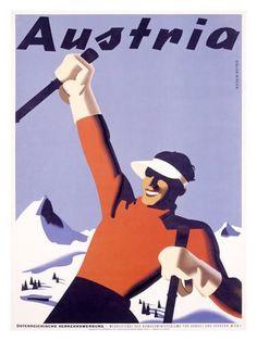 d811d9751d6 Austria Ski Vacation Giclee Print