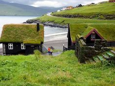 Leynar is a village in the Faroe Islands, a self-governing overseas administrative division of Denmark. Layered Architecture, Amazing Architecture, Architecture Design, Beautiful Homes, Beautiful Places, Beautiful Pictures, Little Cottages, Home Decor Styles, Countryside
