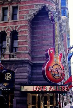 Hard Rock Sign In Center City Philadelphia