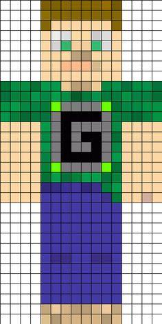 Guude's Minecraft skin perler bead pattern