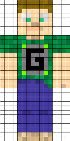 1000 images about minebead on pinterest minecraft for Minecraft skin template grid