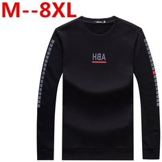 9XL 8XL 6XL 5XL 2016 New Spring Fashion Brand O-Neck Slim Fit Long Sleeve T Shirt Trend Casual Men T-Shirt Korean  #Affiliate