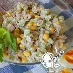 SAŁATKA Z TUŃCZYKA I SELERA NACIOWEGO Appetizer Recipes, Salad Recipes, Healthy Recepies, Seafood Salad, Dessert For Dinner, Us Foods, I Love Food, Food To Make, Easy Meals