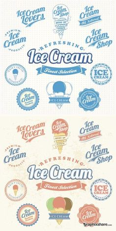 Ice Cream - Vintage Labels