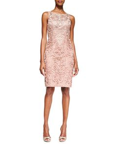 Embroidered Lace Cocktail Dress by Sue Wong at Neiman Marcus.